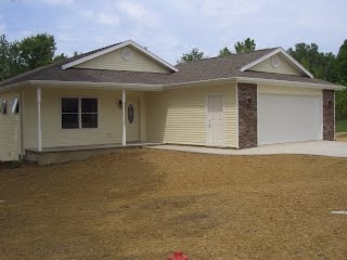 Front of a house that Yoder Construction custom-built.
